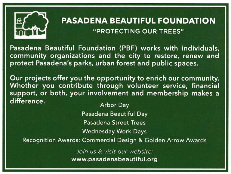 "Pasadena Beautiful Foundation ""Protecting Our Trees"" postcard"